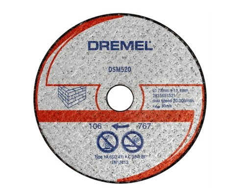 řezací kotouč DREMEL DSM 520, zdivo, 77mm, 2ks