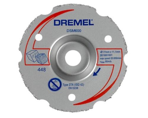 karbidový zarovnávací kotouč DREMEL DSM 600, univerzální, 77mm, 1ks