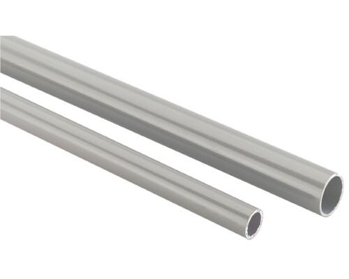 Trubka hliníková na stlačený vzduch, šedá, 40x2mm, 6m