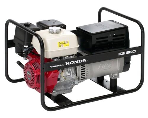 Elektrocentrála se svářečkou Honda EW 200, 230V/400V/6,0kV