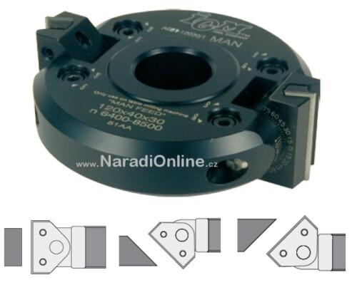 úhlová stavitelná fréza, IGM, -(+)45°, ALU, 120mm