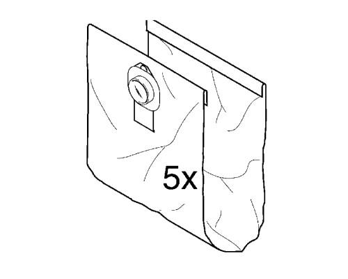 Filtrační sáček pro vysavače Wap, Alto SQ 650,651,690, 5ks