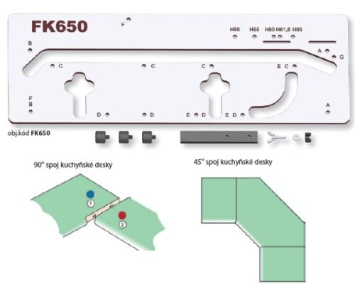 Šablona pro spojování kuchyňské desky FK 650