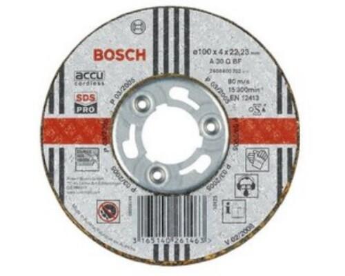 brusný kotouč, nerez, BOSCH, SDS, 100/4 mm