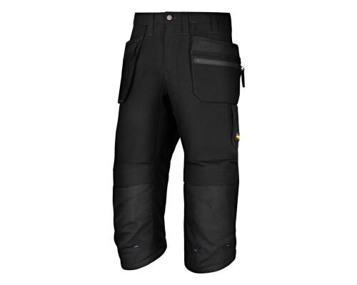 Pracovní kalhoty LiteWork Pirate 3/4, černé, vel. 52
