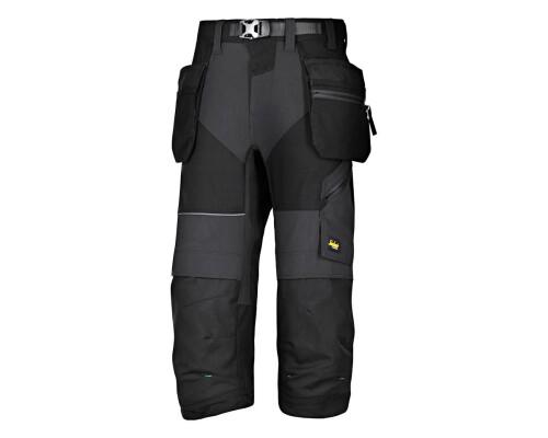 Pracovní kalhoty FlexiWork+ Pirate 3/4, černé, vel. 52