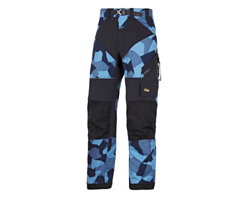 Pracovní kalhoty FlexiWork+, modrý maskáč, vel. 52