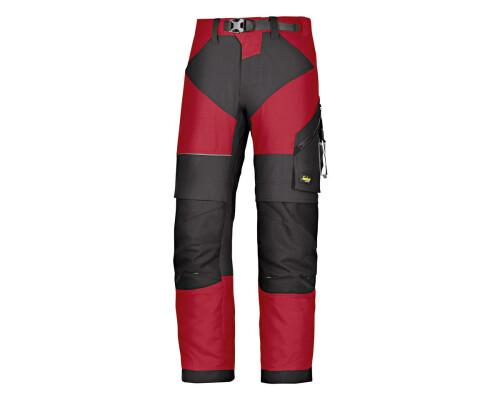 Pracovní kalhoty FlexiWork+, černo-červené, vel. 52