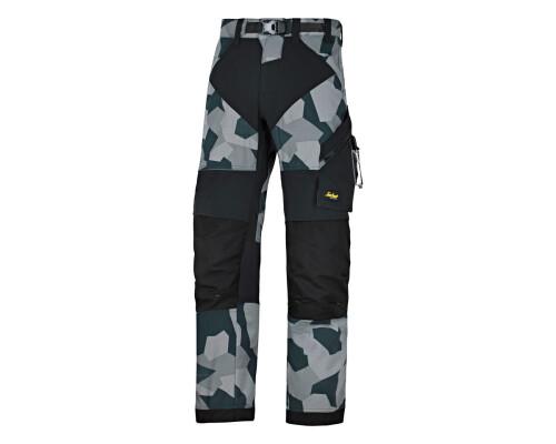 Pracovní kalhoty FlexiWork+, šedý maskáč, vel. 52