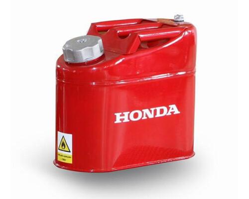 Plechový kanystr na benzín s tankovacím hrdlem, 5 litrů