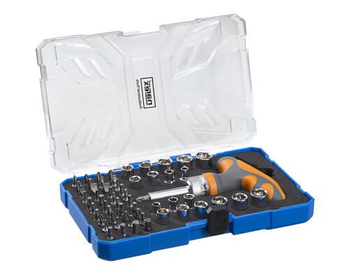 Sada šroubovacích bitů a nástavců s ráčnou Narex Industrial 61-Tool Box