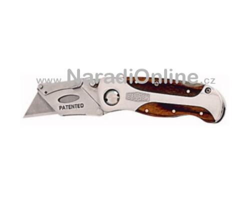 zavírací řemeslnický nůž, BESSEY, dřevěná rukojeť