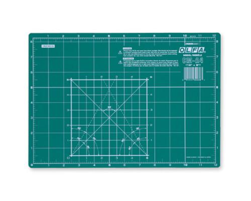 Řezací podložka zelená Olfa CM-A4, 32x22cm, 2mm