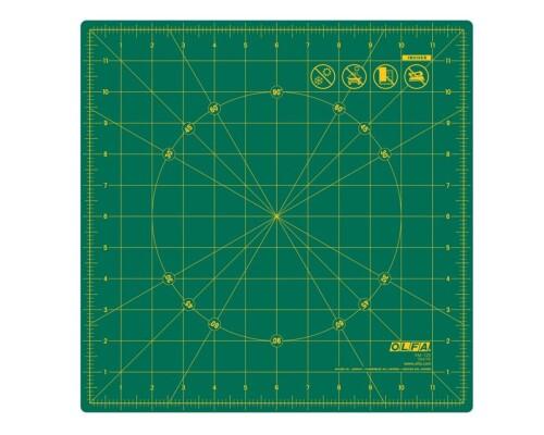 """Rotační řezací podložka zelená Olfa RM-12S, 12x12"""""""