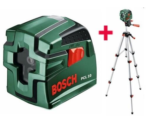 stavební křížový laser, BOSCH, PCL 10 SET (stativ)