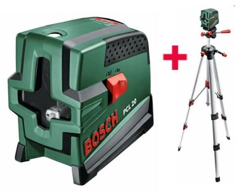 stavební křížový laser, BOSCH, PCL 20 SET (stativ)