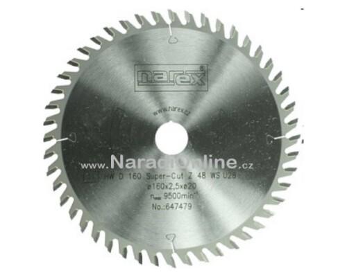 pilový kotouč okružní pily Narex Super Cut, 160x2,2x20, 48WZ