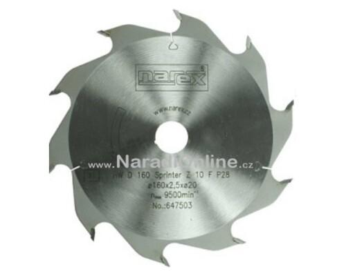 pilový kotouč okružní pily Narex Sprinter, 160x2,5x20, 12 FZ