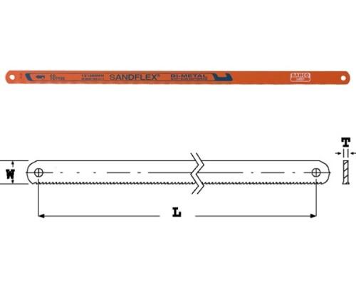 pilový plátek rámové pily na kov SANDFLEX, 300mm, 18 TPI