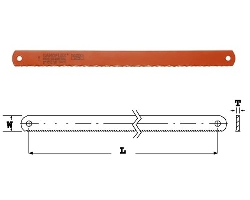 pilové listy strojní pily BAHCO SANDFLEX, 350x32x1,6mm, 6TPI
