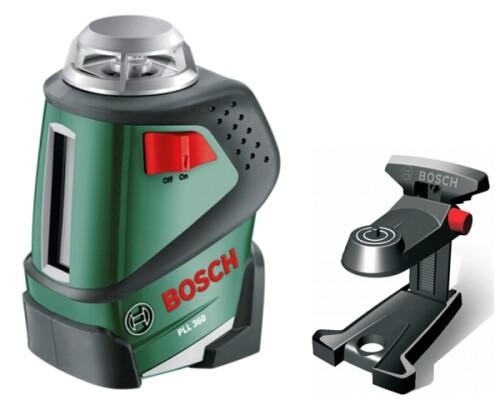 křížový laser, horizontální úhel 360°, BOSCH, PLL 360