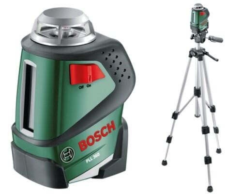 křížový laser, horizontální úhel 360°, BOSCH, PLL 360 SET