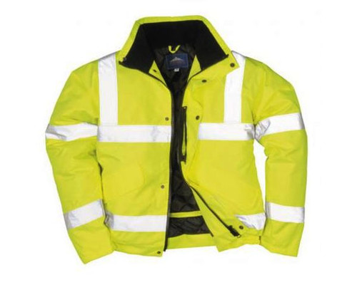 Zateplená pracovní bunda reflexní, žlutá, XL