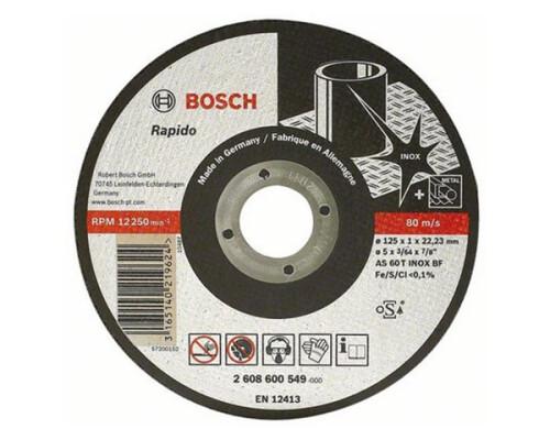 kotouč řezný na kov a nerez BOSCH Rapido Inox, 115/1mm