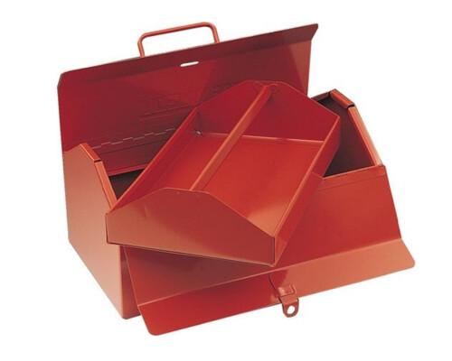 Plechový box rozkládací s dvojitým víkem 355x205x185mm