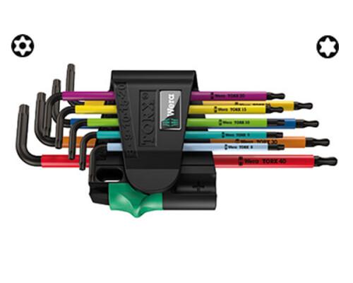 sada TORX BO klíčů s otvorem W 967 SPKL/9 MultiColor, 9ks