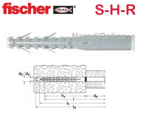 rámová hmoždinka nylonová, FISCHER, S-H-R 10x160mm