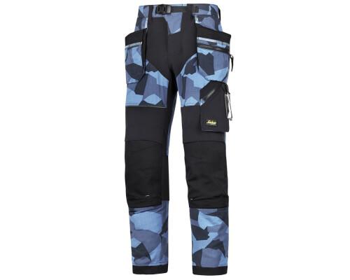 Pracovní kalhoty FlexiWork+ s pouzdrovými kapsami, modré, vel. 52