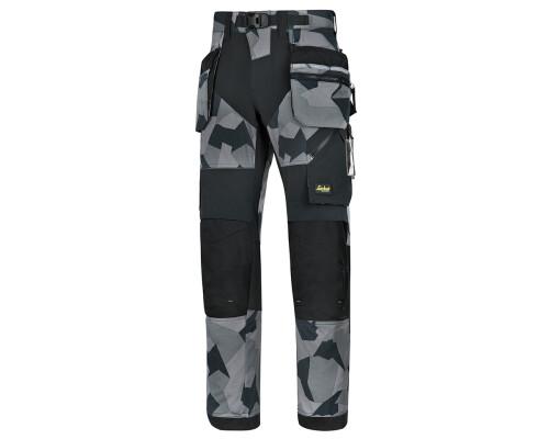Pracovní kalhoty FlexiWork+ s pouzdrovými kapsami, šedé, vel. 52