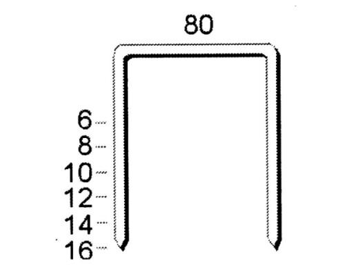 sponky SCHNEIDER 80/16, CNK (balení 3.000ks)