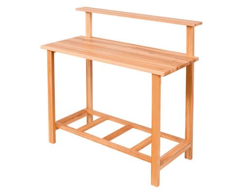 Zahradní pracovní stůl z masivního dřeva Garden I, základní model