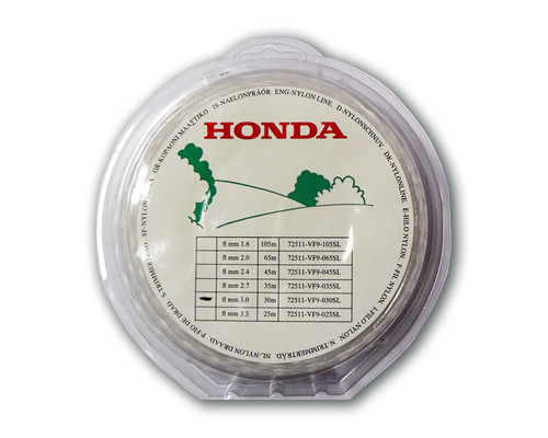 Náhradní struna pro křovinořez Honda 3,0mm x 60m, ostrá