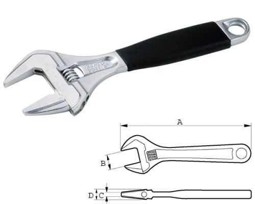 stavitelný švédský klíč Bahco s Ergo rukojetí, chromovaný, 0-38mm