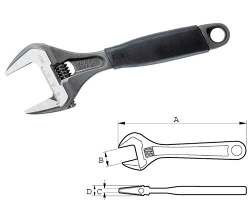 stavitelný švédský klíč Bahco s Ergo rukojetí, 0-38mm