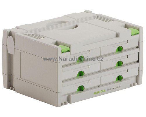 Systainer Festool sortainer SYS 3-Sort, 6 zásuvek