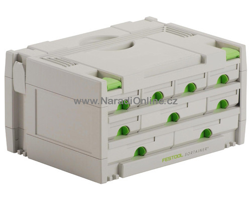 Systainer Festool sortainer SYS 3-Sort, 9 zásuvek