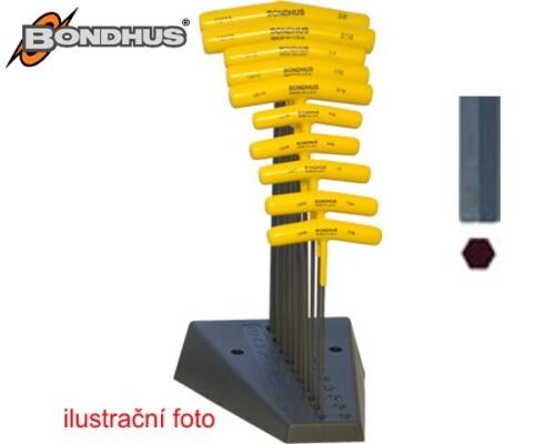 sada klíčů IMBUS BONDHUS, INCH, tvar T, 10ks