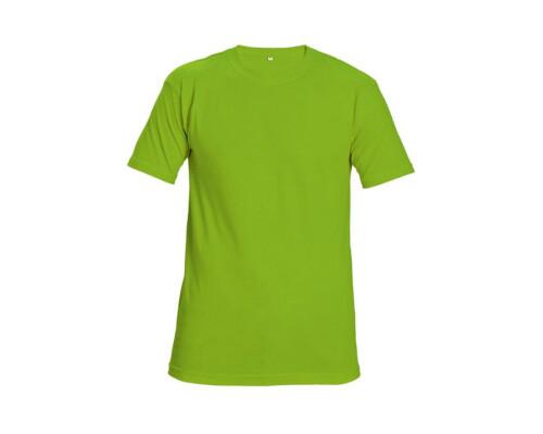Tričko s krátkým rukávem Teesta Fluorescent 160g, zelená, (M)