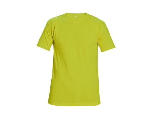 Tričko s krátkým rukávem Teesta Fluorescent 160g, žlutá, (S)