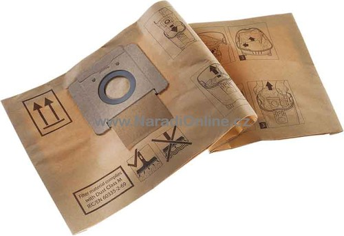 Filtrační sáček papírový FB-V Protool VCP 260, ATTIX 3, 5ks