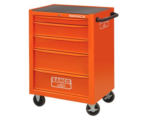 Univerzální dílenský vozík na nářadí Bahco, 5 zásuvek, oranžový