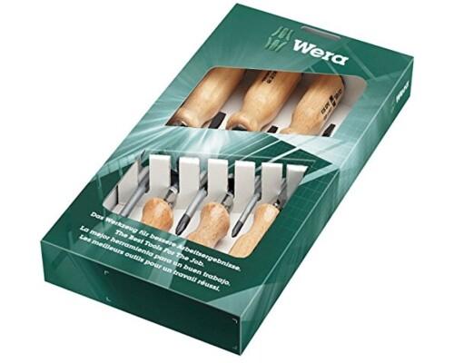 sada šroubováků WERA, dřevěná rukojeť, 930/935/6, PH+PL, 6ks