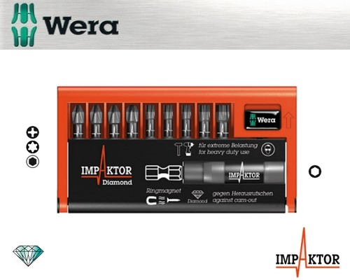 sada bitů WERA 8751/67-9/IMP DC Impaktor Bit-Check, 9+1+1ks