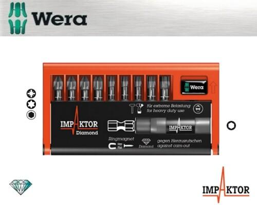 sada bitů WERA 8755/67-9/IMP DC Impaktor Bit-Check, 9+1+1ks