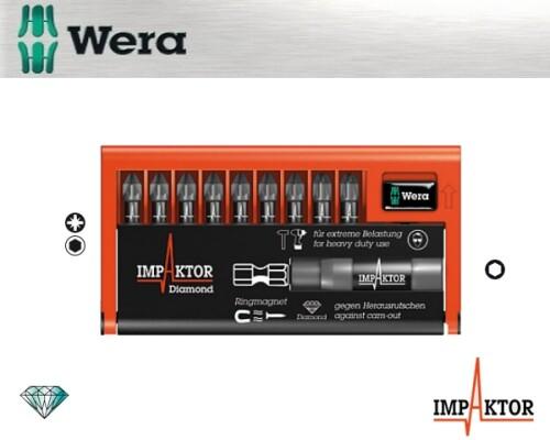 sada bitů WERA 8755-9/IMP DC Impaktor Bit-Check, 9+1+1ks