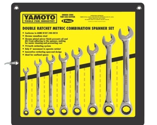 sada ráčnových očkoplochých klíčů kombinovaných Yamoto, 8-19mm, 8ks